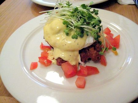 EF_Clinton_Street_Bakery_Clam-and-Corn_Fritter_Benedict
