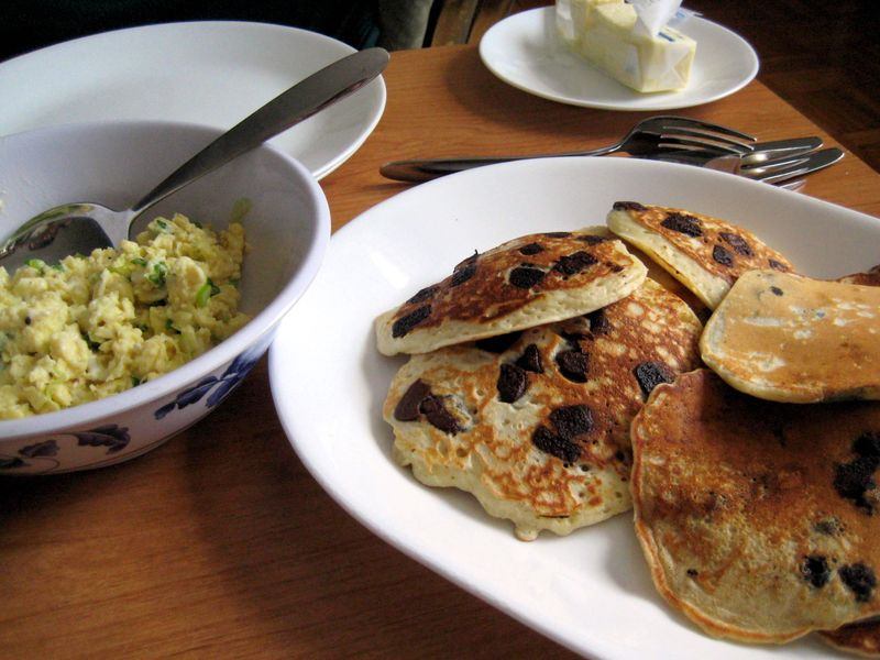 EF_Chocolate_Chip_Pancakes_Scallion_Scrambled_Eggs
