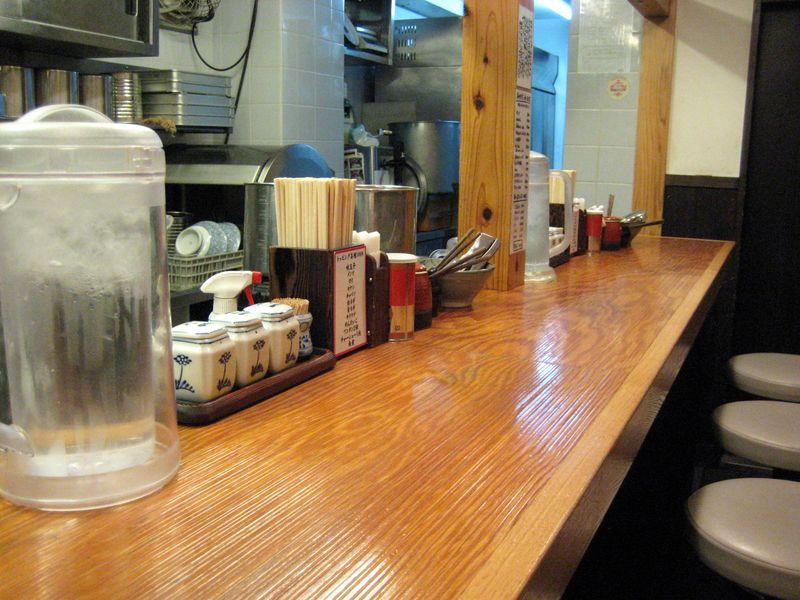 Ramen Counter in Ginza Tokyo Japan