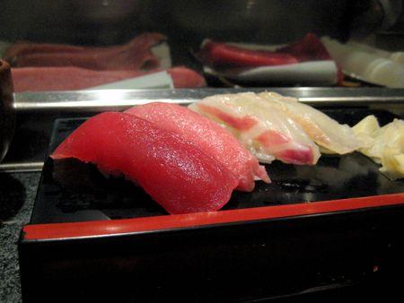 EF Tsukiji Fish Market, Day 1, Maguro, Toro, Hata, Tai Nigiri